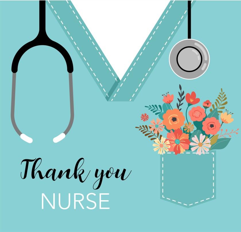 Thank you nurse illustration