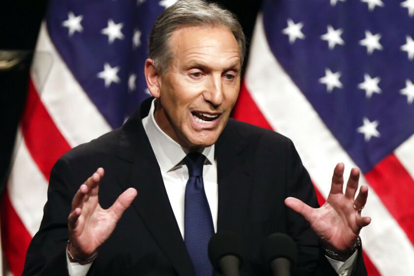Howard Schultz faced intense resistance from Democratic activists who feared an independent run would give President Trump an easier path to reelection.