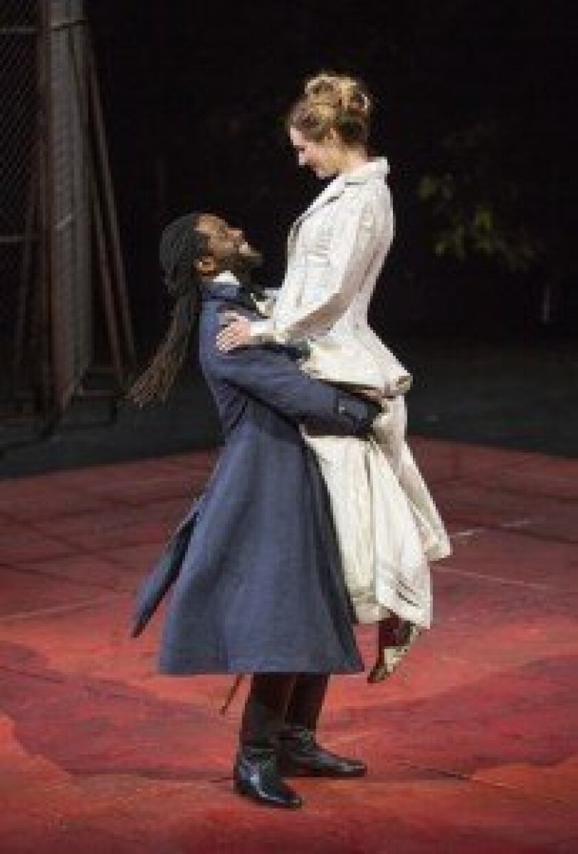 Othello (Blair Underwood) is mesmerized by his new bride, Desdemona (Kristen Connolly).