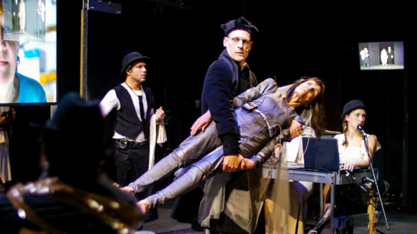 "The Wooster Group performing ""A Pink Chair (In Place of a Fake Antique)"" at REDCAT in downtown Los A"
