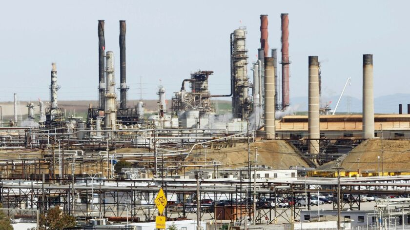 Chevron's oil refinery in Richmond, Calif., had a fire in 2012 that sent thousands of people to hospitals, many complaining of respiratory problems.