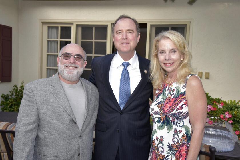 RSF resident Jamie Carr hosts reception for Congressman Adam Schiff