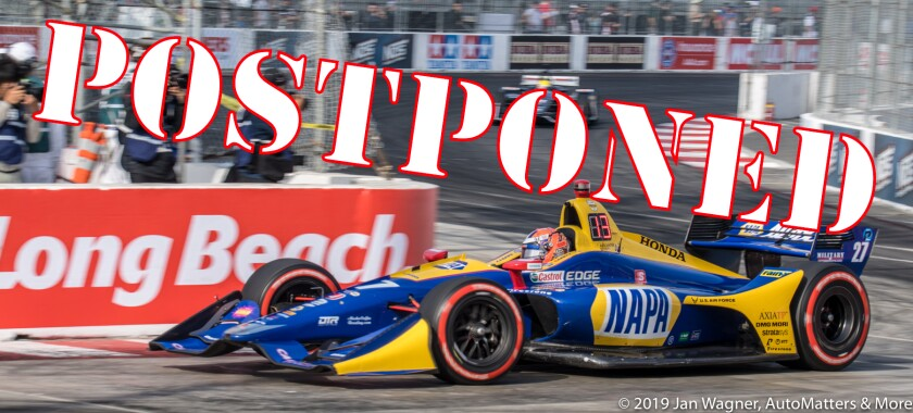 Alexander Rossi in his IndyCar - 2019 Acura Grand Prix of Long Beach