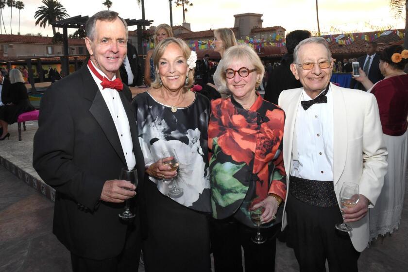 Jim and Cindy Wollaeger, Martha and Edward Dennis