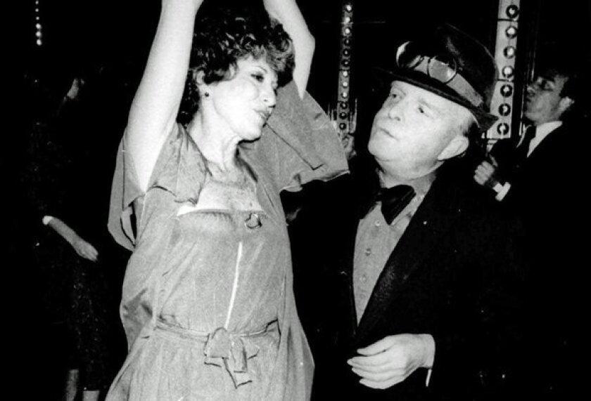 Truman Capote dances with Marion Javits at Studio 54 in 1978.