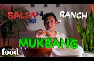 Lucas tries a ranch and salsa MUKBANG!!