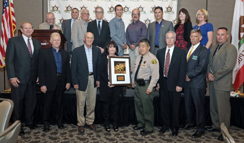 The Montrose Search and Rescue Team was honored with the Mission of the Year award by the Los Angeles Sheriff's Department on Thursday for aiding in the search of a hiker who went missing for a week in the Angeles National Forest this past June.