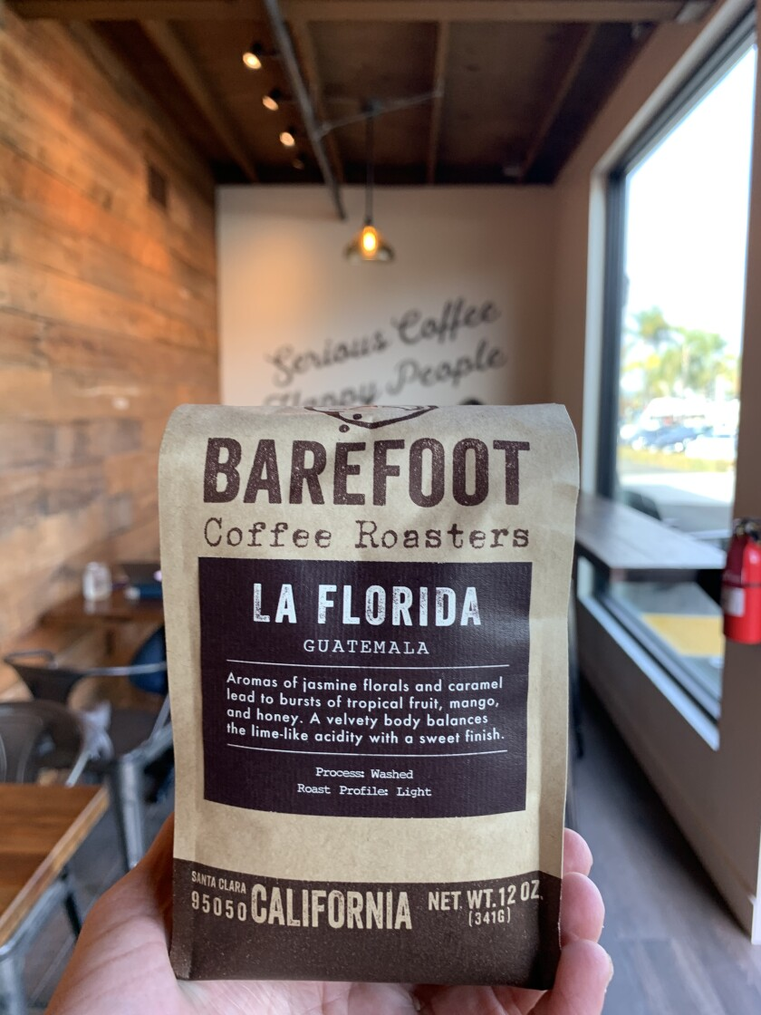 Bay Area favorite Barefoot Coffee Roasters opened its second location in Solana Beach this fall.
