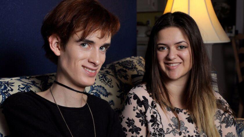 Best friends Gabriel Pettersen and Danielle Rexilius, both juniors at Mission Hills High School, hav