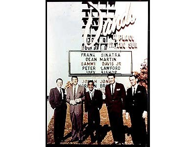 The Rat Pack in front of Sands Hotel in Las Vegas