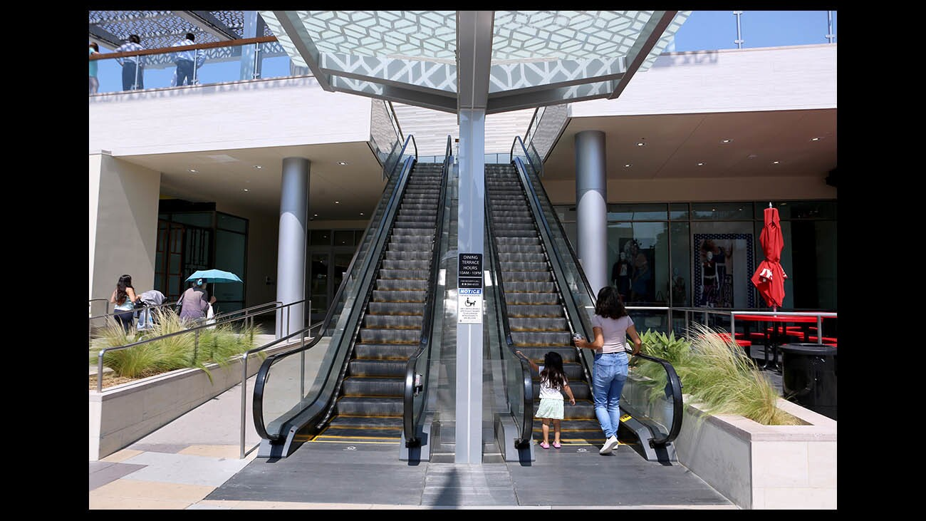Photo Gallery: Burbank Town Center mall has new escalators, dinning terrace