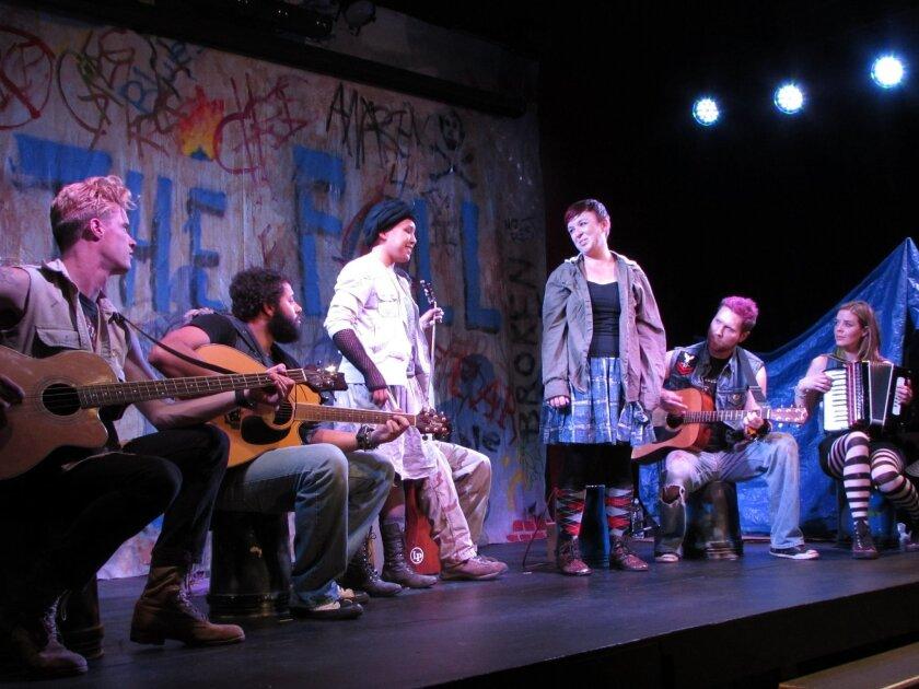 The very talented cast includes Jon Huckaby, Patrick Kelly, Taylor Wycoff, Katherine Harroff, Michael Nieto and Stacy Hardke. Photo Susan DeMaggio
