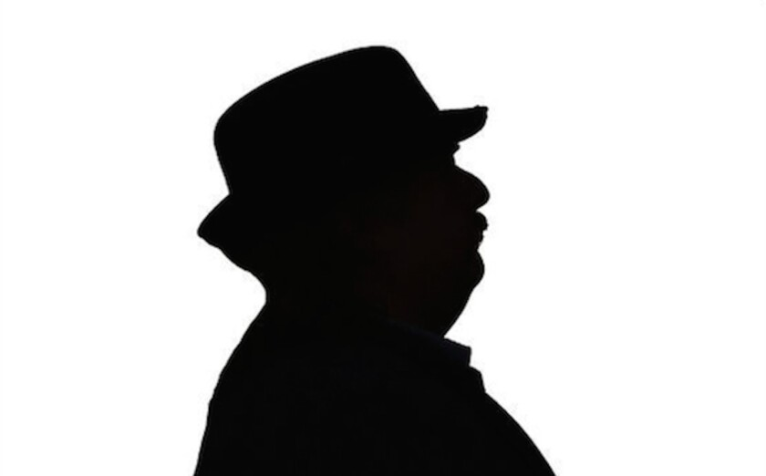 We know he's not anonymous anymore, but he looks pretty great as Alfred Hitchcock.