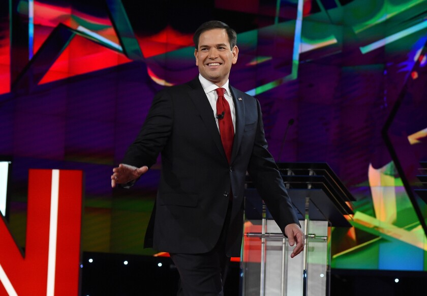 Some Republican strategists question the unorthodox campaign strategy of Florida Sen. Marco Rubio, with his preferred venues of made-for-TV rallies and cable news appearances, but his staff and supporters insist his charisma will win over voters.