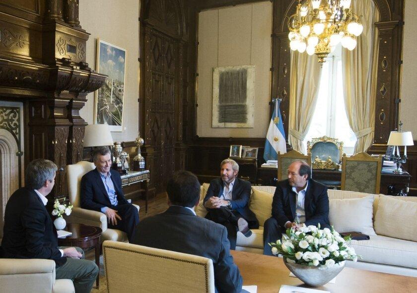 Mauricio Macri en la Casa Rosada.