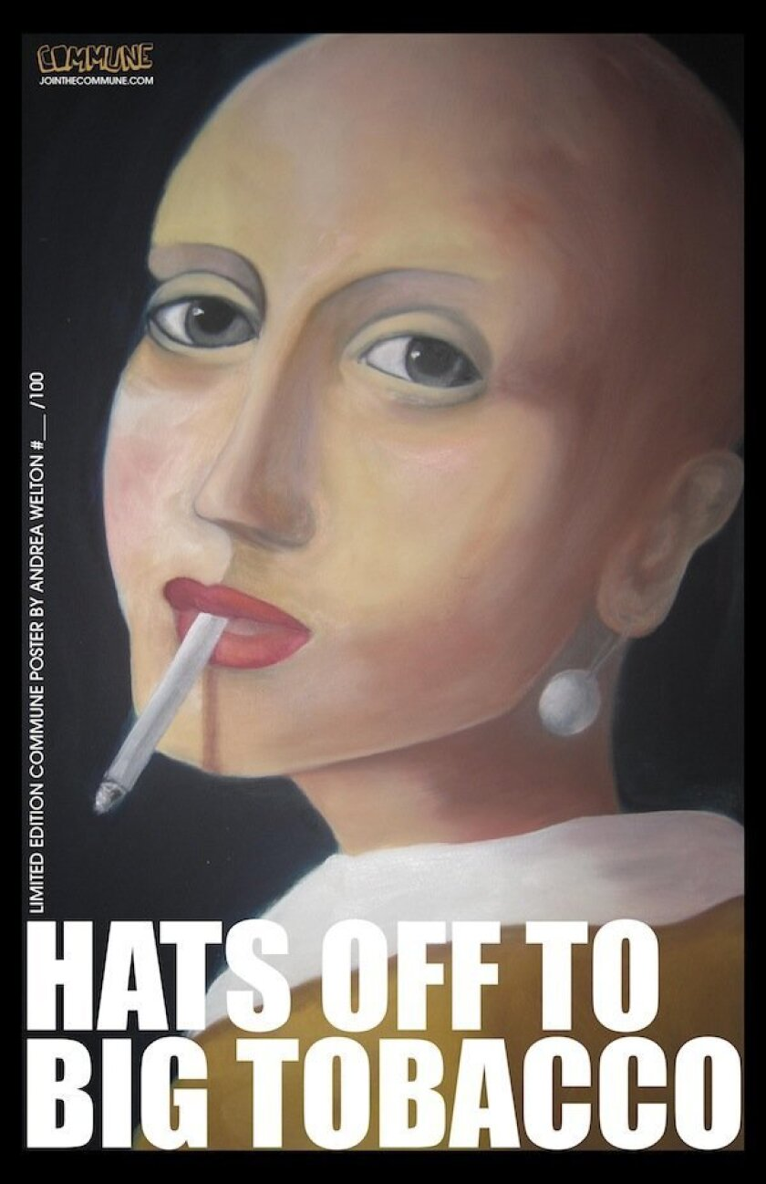 Federal grant money funds anti-tobacco art posters, such as this one by Andrea Welton.