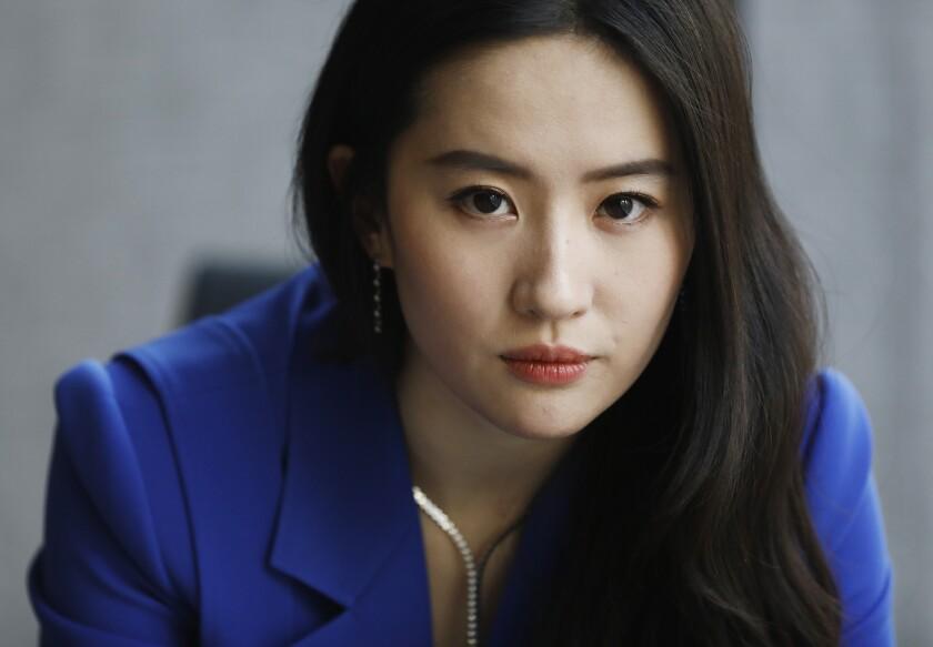 """Yifei Liu portrays the title heroine in """"Mulan."""""""