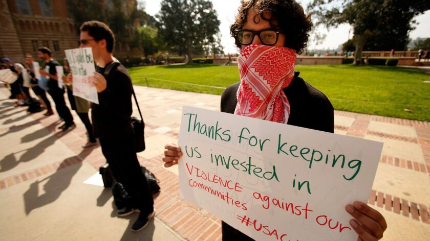 Protesters call for UCLA to divest from Israel
