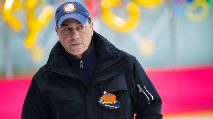 LAKEWOOD CA - JANUARY 31, 2018: U.S. Olympic figure skating coach Rafael Arutyunyan attends a sendo