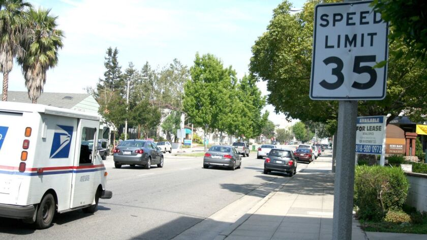 Several speed limits signs along Foothill Boulevard and elsewhere within the city will be changing i