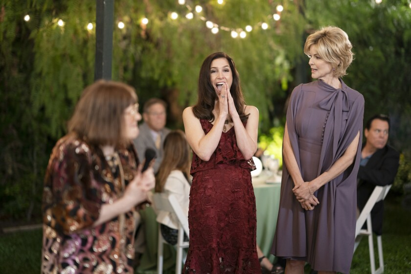 "Shoshannah Stern, center, as Kate, with Marcia Cross, right, as her mother, Blythe, in a Season 2 episode of ""This Close."""