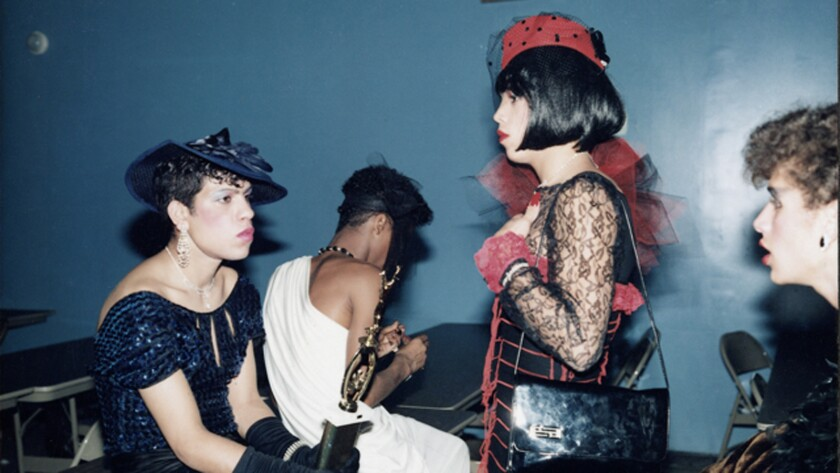 Butch Queens in Drag, Brooklyn ball, 1986. Credit: Jennie Livingston