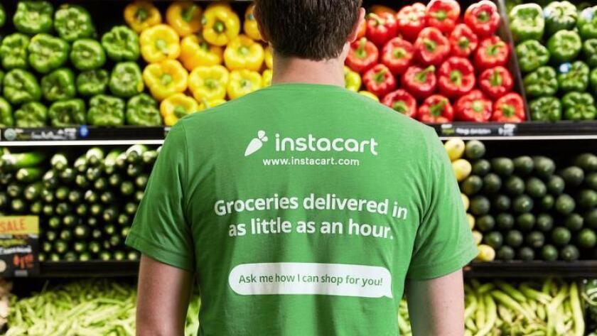 Instacart matches app users with personal shoppers who pick out products and deliver groceries to doorsteps. The on-demand service is now available in parts of San Diego. (Courtesy, Instacart)