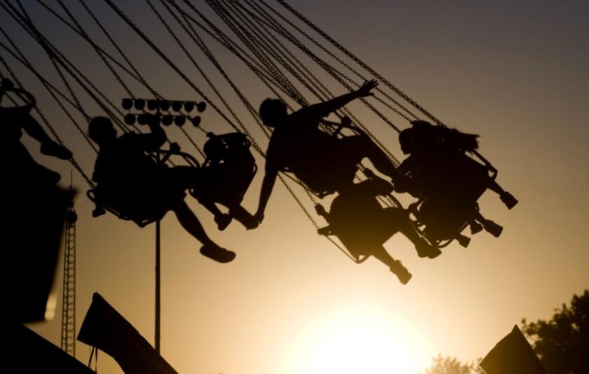 Kids on a swing ride