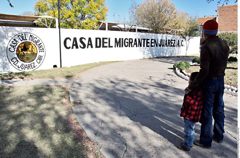 Foto de archivo de un migrante en el estado de Chihuahua.