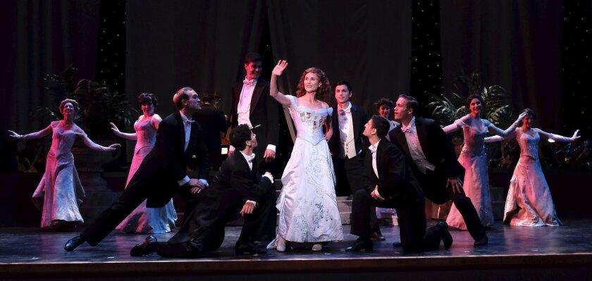 """Beth Malone (center) as Annie Oakley in San Diego Musical Theatre's """"Annie Get Your Gun."""""""