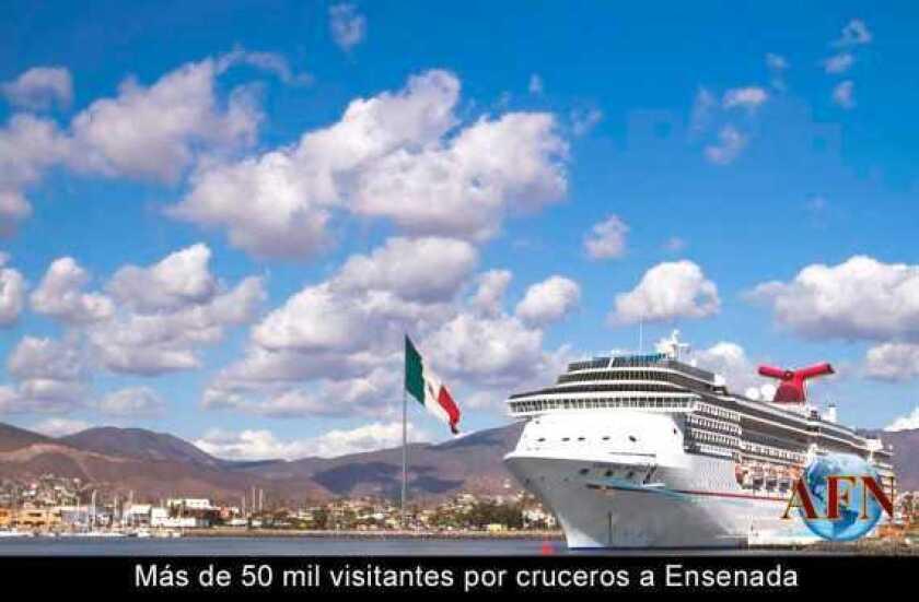 Más de 50 mil visitantes por cruceros a Ensenada