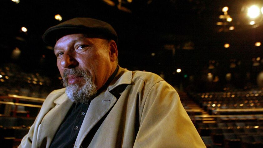 "August Wilson, shown in a 2003 image, adapted his play ""Fences"" for the screen before his death in 2005."