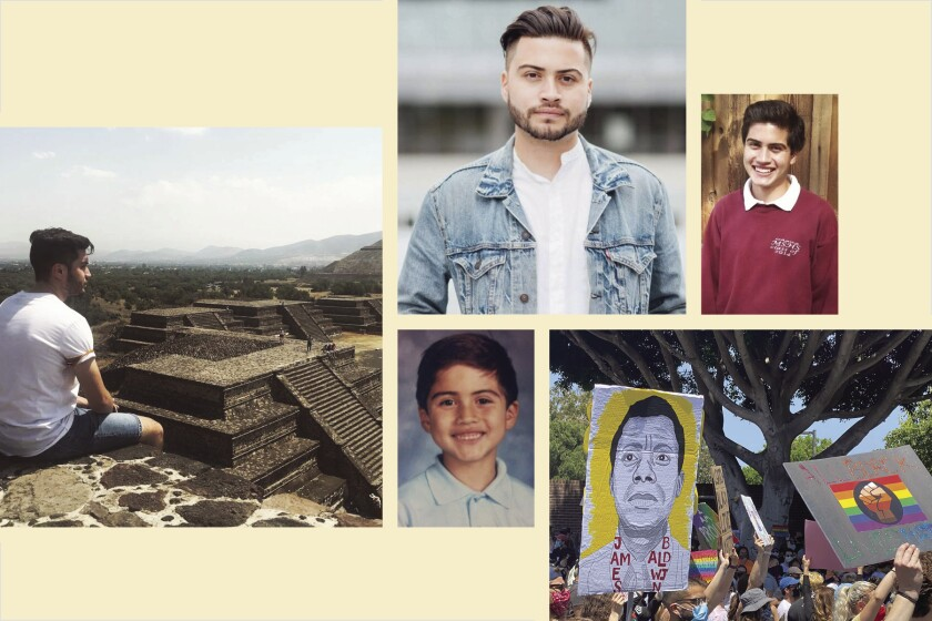 A photo collage for Los Angeles Times editorial assistant Frank Rojas' essay.