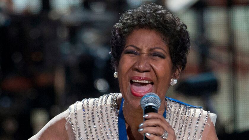 FILE PHOTO -- BET honoree singer Aretha Franklin performs onstage at BET Honors 2014 at Warner Theatre in Washington on February 8, 2014.