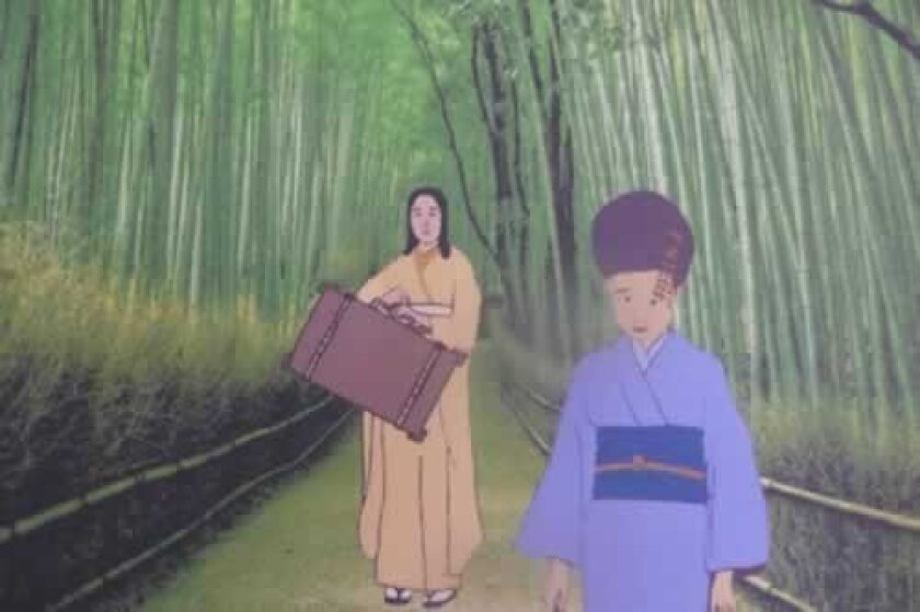 one of the storyboards from 'The Many Kimonos of Korkora Katoshi' is created by students at High Tech High. Courtesy Photos