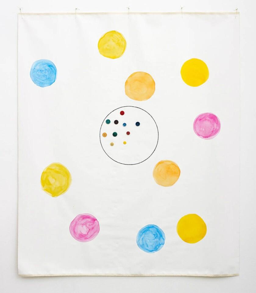 "B. Wurtz, ""Untitled,"" 2014, mixed media on canvas."