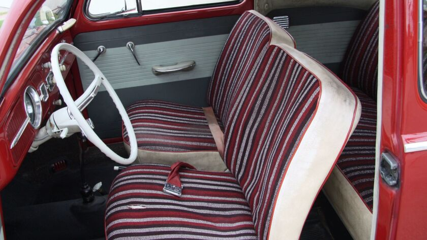 Original interior, frayed but serviceable.