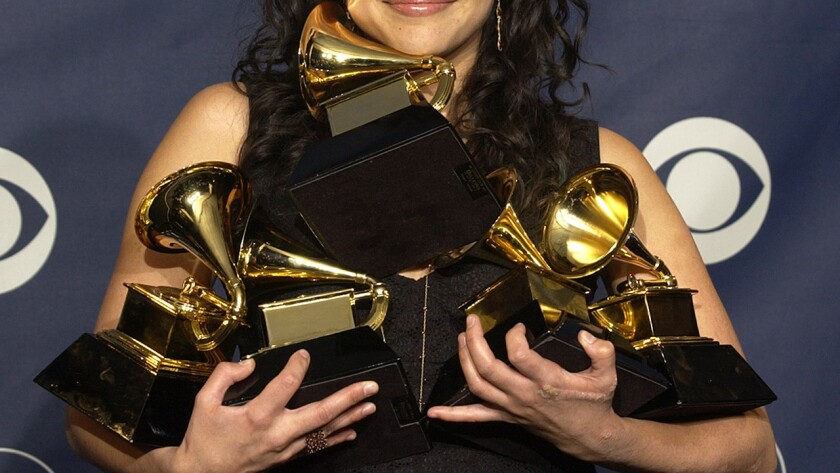 This artist won in every category in which she was nominated, and tied Lauryn Hill and Alicia Keys for most wins by a female artist in a single night. Who is she? See the bottom of the post.