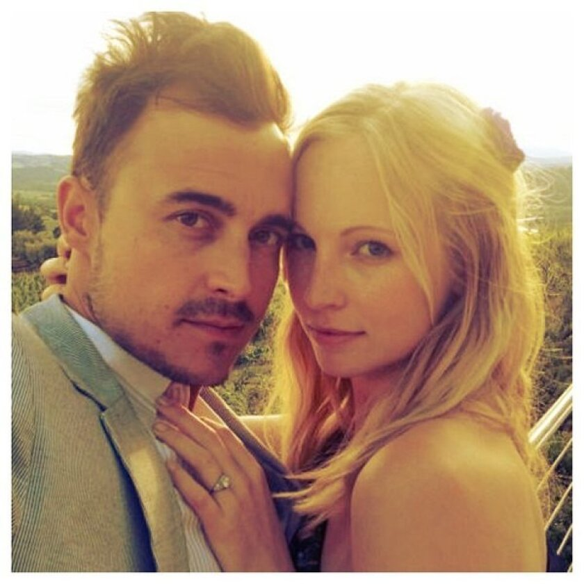 """The Vampire Diaries"" actress Candice Accola is engaged to the Fray's Joe King."