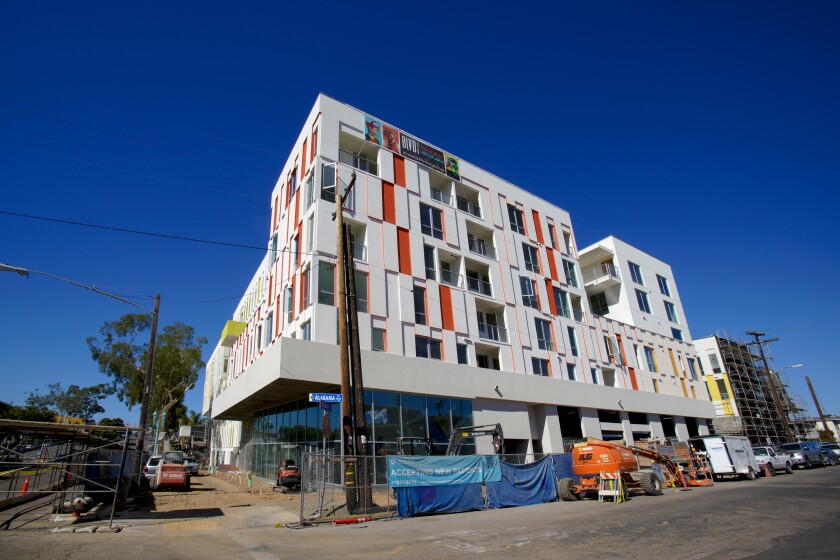 The new BLVD apartment complex in North Park will offer one- and two-bedroom apartments for rent.