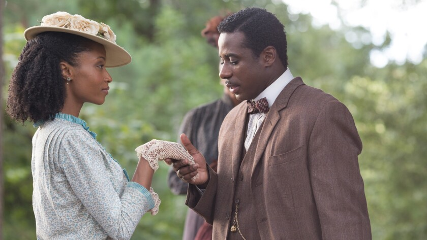 """(L-R)- Yaya DaCosta as Nora Bolden with Gary Carr as Buddy Bolden in a scene from the movie """"Bolden"""