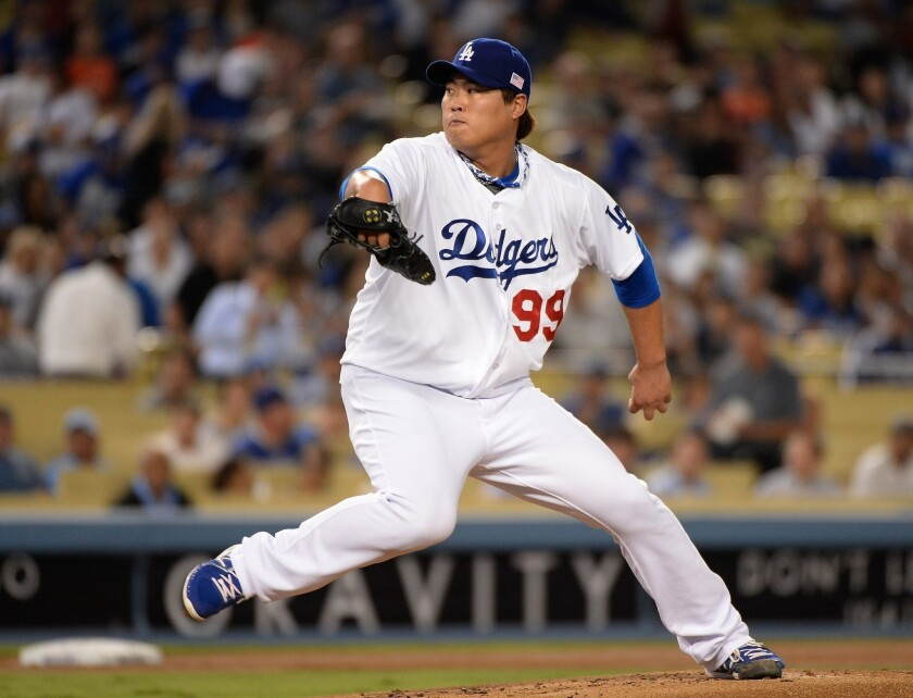 Dodgers will have to watch Hyun-Jin Ryu carefully down stretch