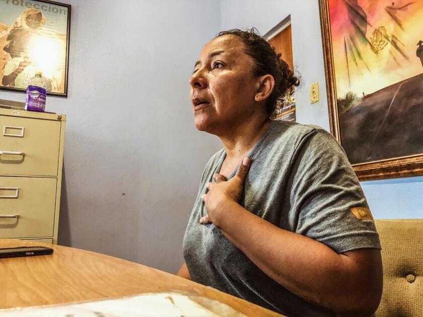 Rosa Emilia Torrez at Casa del Migrante Nazareth in Nuevo Laredo, Mexico