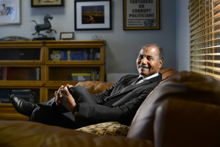 """""""60 Minutes"""" correspondent Bill Whitaker in his CBS office in New York."""