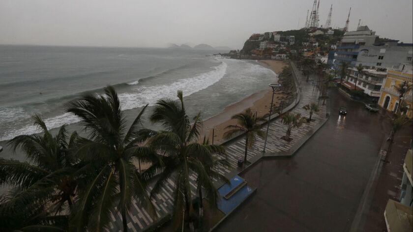 Rain begins to fall over Mazatlan before the arrival of Hurricane Willa, in Mazatlan, Mexico, Tuesda