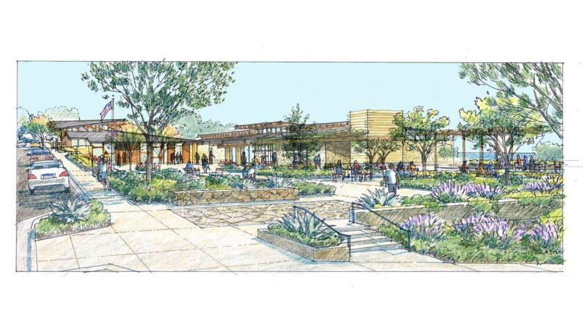 A rendering of Del Mar's new civic center. / Credit The Miller Hull Partnership