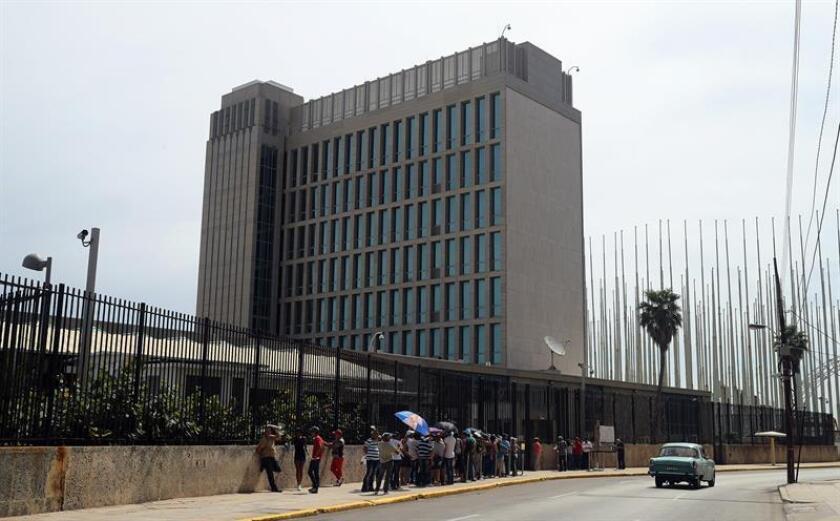 Vista de la embajada de Estados Unidos en La Habana (Cuba). EFE/Archivo