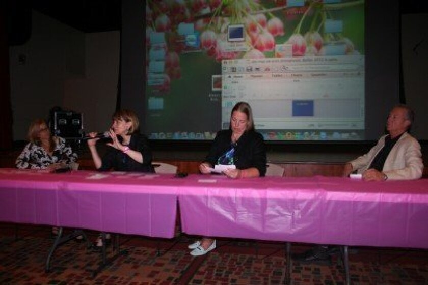 Dr. Jane Kakkis, Dr. Michele Carpenter, genetic counselor Sandra Brown and Dr. Richard Reitherman spoke about early detection and the recurrence of breast cancer. Photos/Kristina Houck
