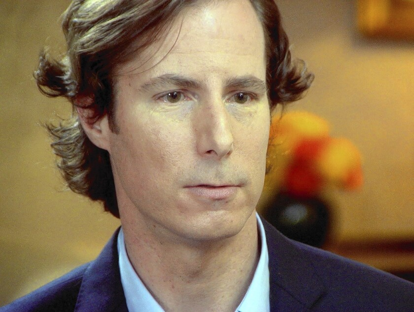 """Andrew Madoff speaks to """"60 Minutes"""" in 2011. He told the show that what his father, Ponzi king Bernard Madoff, """"did to me, my brother and my family is unforgivable. ... And I'll never speak to him again."""""""