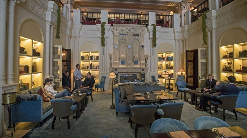 LOS ANGELES, CALIF. -- TUESDAY, JANUARY 23, 2018: A view of the Lobby Restaurant at the NoMad Los A